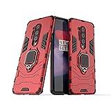 LuluMain Kompatibel mit 1+8 Pro (5G) Hülle, Ring Ständer Magnetischer Handyhalter Auto Caseme Schutzhülle Case für OnePlus 8 Pro (Rot)