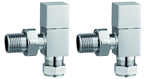 Keenware KRA-004 - Válvula cuadrada para radiador y toallero, cromado