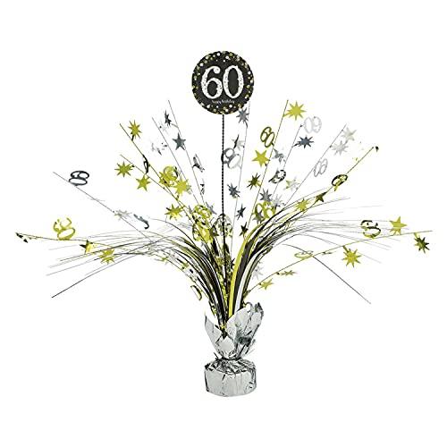Amscan 110296 - Tischdekoration 60 Sparkling Celebration - Gold Folie / Papier 45,7 cm, Geburtstag