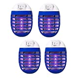 4 Pcs Bug Zapper Electric Fly Pests Trap Indoor, Mosquito LED Light for Patio, Bedroom, Kitchen, Office Electronic Insect Killer