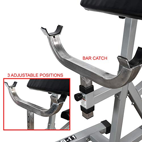 Valor Fitness CB-11 Standing Arm Curl Station for Strength Training w/Pivot and Contoured Arm Rest