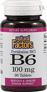 B-6 Pyridoxine HCL 100mg Natural Factors 90 Tabs