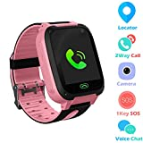 Jsbaby Kids Smart Watch Phone smartwatches for Children with LBS/GPStracker sim Card Anti-Lost sos Call Boys and Girls Birthday Compatible Android iOS Touch Screen Voice Chat Remote Camera