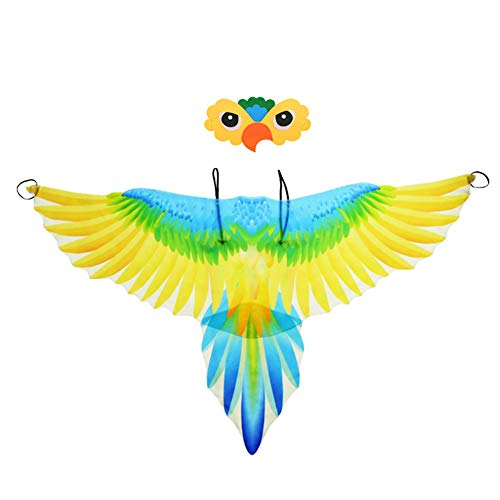Kids Bird Wings Costume Parrot Cloak and Mask...