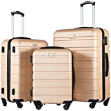 <span class='highlight'><span class='highlight'>COOLIFE</span></span> Suitcase Gold champagner Set