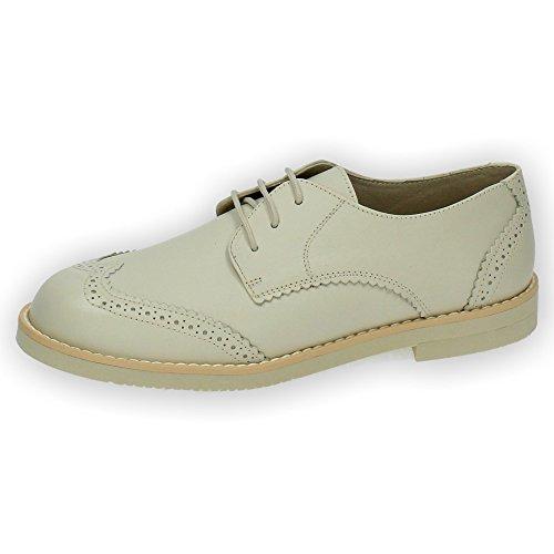 BAMBINELLI 4421 Zapato de Comunión Niño Piel (32, Beige)