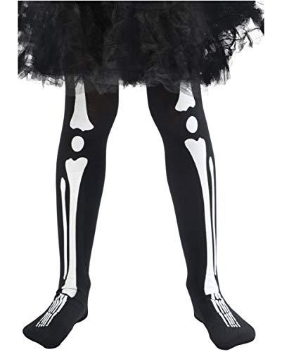 Horror-Shop Halloween Kinderstrumpfhose mit Skelett Print
