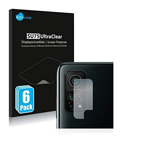 Savvies 6X Schutzfolie kompatibel mit Xiaomi Mi 10T Pro 5G (NUR Kamera) Bildschirmschutz-Folie Ultra-transparent