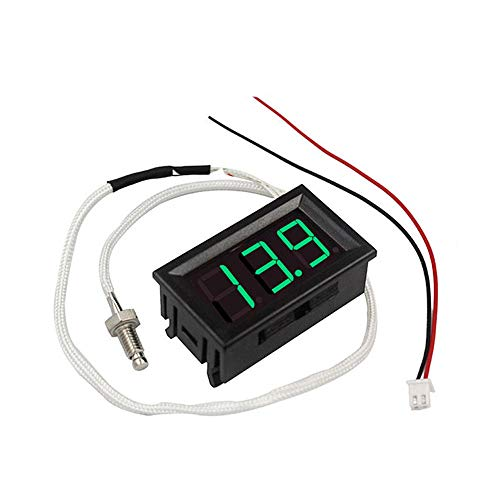 Módulo electrónico De tipo K Tubo 3pcs Digital LED verde Display Termómetro 12V metro de la temperatura M6 hilo de termopar Tester -30~800C termógrafo Equipo electrónico de alta precisión