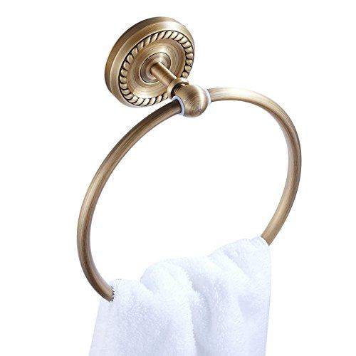 CASEWIND Handtuchring Wandmontage, Handtuchhalter Messing Antik Retro Vintage, Handtuchhalterung für Badezimmer Dusche Küche Nostalgie