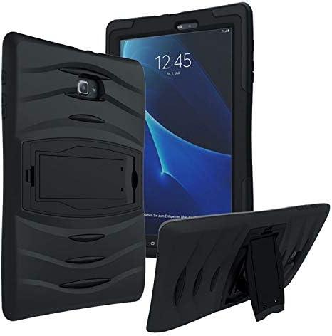 "KIQ Samsung Galaxy Tab E 9.6"" SM-T560 Case, Shockproof Heavy Duty Military Armor Hybrid Case Cover for Samsung Galaxy Tab E 9.6 T560 T567 T560NU T560NZ (Black)"