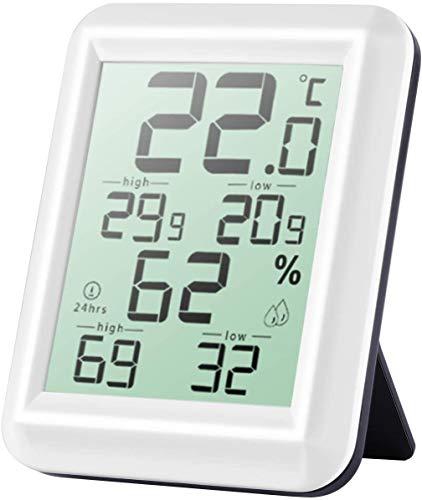 TSAI Termometro Igrometro Digitale,Barometro da Parete Interno, Termometro Ambiente per Professionale Portatile,Termometro Igrometroa ad lta Precisione per Misura Stanza