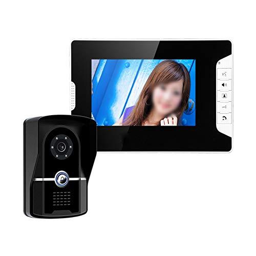 Libila 7-inch breedbeeld HD-nachtzicht waterdicht met video-deurbel met vergrendelfunctie