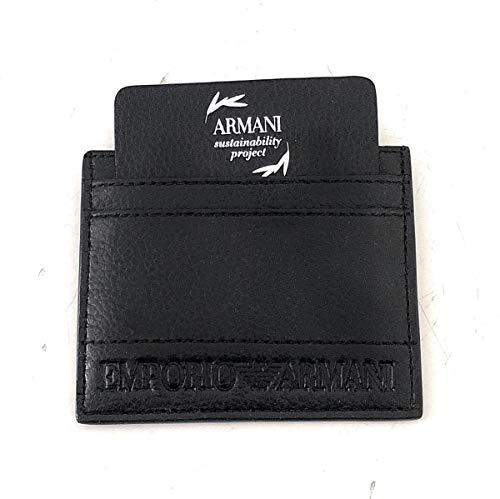 Emporio Armani hombre fundas para tarjetas de visita black