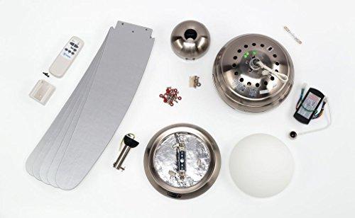 Chrom Deckenventilator mit Leuchte Bendan Bild 3*