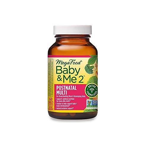 MegaFood, Baby & Me 2 Postnatal Multi, 60 Tablets
