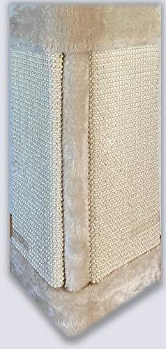 Diggar Tabla rascadora para gatos, sisal y felpa, 2 colores, pared/suelo, 49 x 26 cm (Beige)