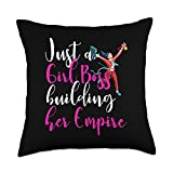 Just A Girl Boss Building Her Empire Entrepreneur Just A Girl Boss Building Her Empire Shirt Entrepreneur Tee Throw Pillow, 18x18, Multicolor