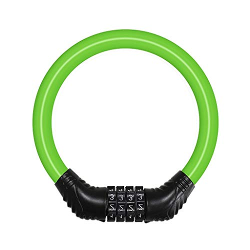 xinxinchaoshi U-Lock Mountain Bike Lock Car Anti-Theft Portable Electric Password Lock Fixed Bicycle Ring Lock Helmet Disc Brake Chain Bike Locks (Color : Green)