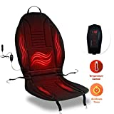 Zone Tech Car Heated Seat Cover Cushion Hot Warmer - Premium Quality 12V Fireproof Heating Warmer Pad Cover Perfect for Cold Weather and Winter Driving