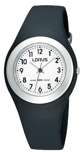 Lorus Watches Unisex Analog Quarz Uhr mit Kautschuk Armband R2395FX9