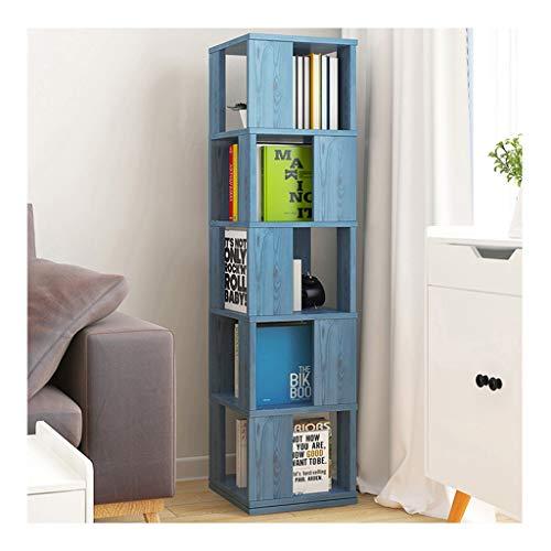 WYZ-- Bookshelf da Terra a 360 ° di Rotazione Libreria, 34 * 34 * 160cm / 4 a Colori, Rivista Libri Soggiorno Studio Camera Ufficio Scolastico Biblioteca (Color : D)