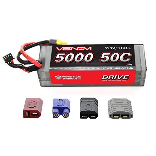 Venom 50C 3S 5000mAh 11.1V LiPo Hardcase Battery with Universal Plug (EC3/Deans/Traxxas/Tamiya)