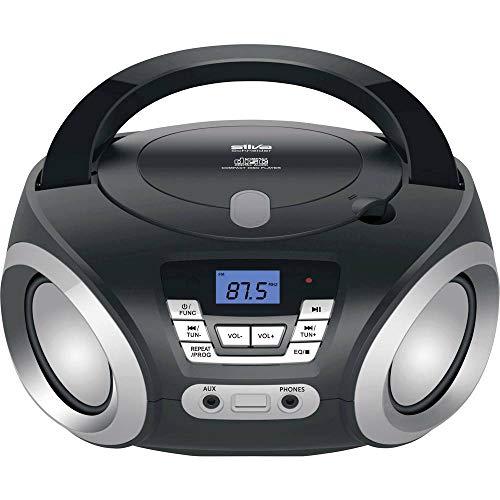 Silva-Schneider PCD 19.1 UKW Radio, CD Player, AUX, Netz- und Batteriebetrieb,  Schwarz