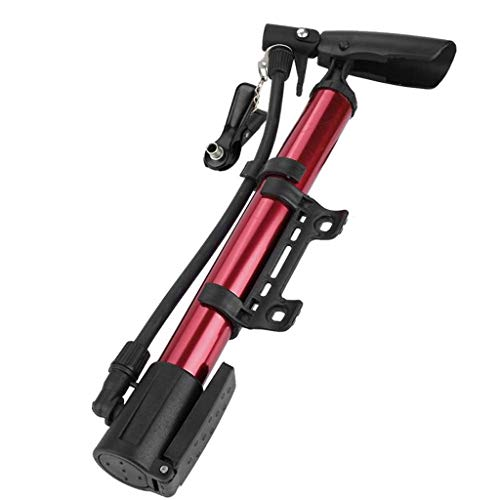 Zyj-Cycling Pumps Mini Fahrrad Luftpumpe Reifenpumpe Tragbare Aluminiumlegierung Mountain Road Bike Air Radfahren Reifen Hand Druck Fahrradteile (Color : Red)