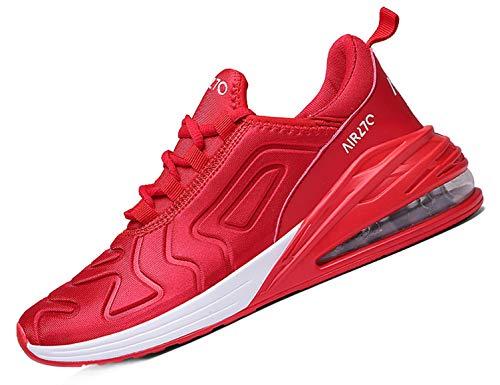 SINOES Mujer 720 Caña Baja Gimnasia Ligero Transpirable Casuales Sneakers de Exterior y Interior Zapatillas Deporte Sandalias al Aire Libre Rojo Blanco 40 EU