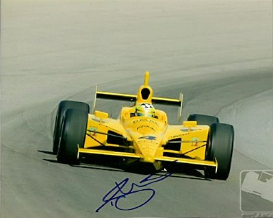 Auotgraphed Tomas Scheckter - Formula One Racing Photo