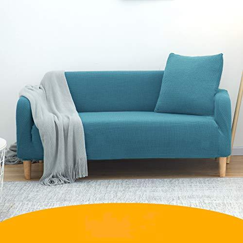 NOBCE Elastic Sofa Cover Cotton All-Inclusive Stretch Slipcover Couch Cover Sofa Towel Sofa Cover For Living Room Blue 190-230CM