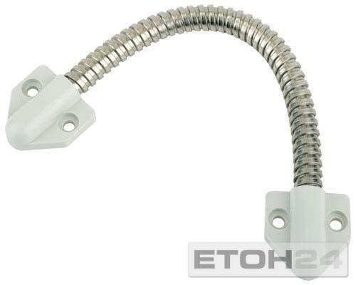 Kabelübergang 10318 für Kabel bis 7 mm, 300 mm, Konsole grau, Messing vernickelt ; 1 Stück