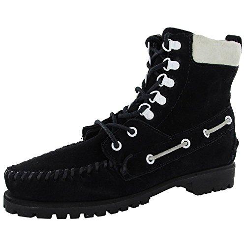 Sebago Womens Delancey B50127 Suede Ankle Boot Shoe, Black, US 5.5