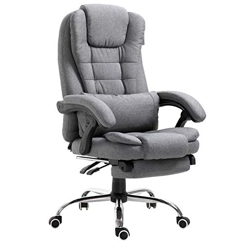 Executive Reclining Computer Desk Chair with Footrest, Headrest and Lumbar...