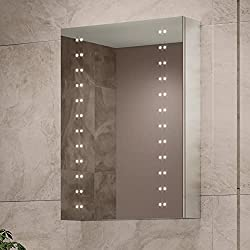 Pebble Grey Hollis Illuminated Mirror Cabinet