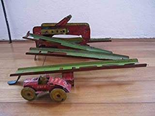 名品1930s 倉持商店 Over The Hill 完動品 ブリキ玩具