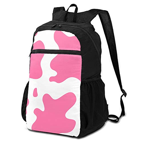 best& Travel Hike Backpack Daypack Elegant Perfectly Cow Fur Pink Animals Wildlife Travel Daypack Packable Backpack for Women Lightweight Waterproof for Men & Womentravel Camping Outdoor