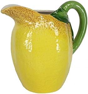 Tutti Decor Zitrone groß Keramik Krug Vase 21cm Geburtstag Geschenk Sommer Gelb