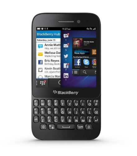 BlackBerry Q5 8GB RFS121LW SQR100-2 (GSM Only, No CDMA) Factory Unlocked 4G/LTE Qwerty Simfree Cell Phone - (Black)