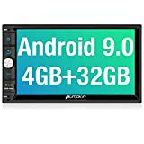 PUMPKIN Android 9.0 Double Din Car Stereo with 4GB RAM, GPS and WiFi, Android Auto, Support Fastboot, Backup Camera, USB SD, 7 Inch Touch Screen