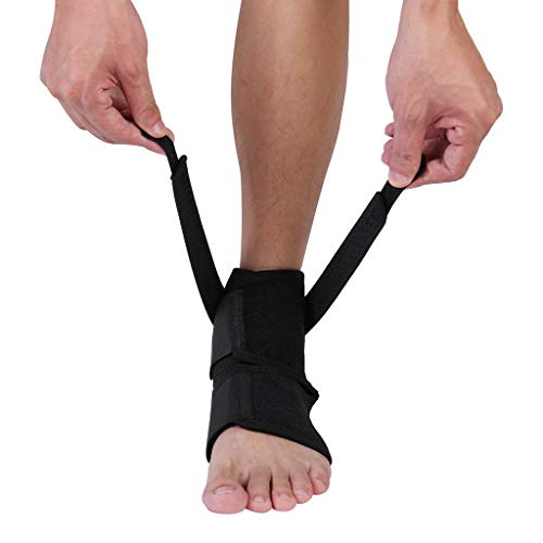 TIREOW Fußbandage Sprunggelenkbandage Knöchelbandage Knöchelstütze Schnürung Verstellbarer Stabilisator für Sport Fuß Verstauchte Verletzungen Damen Herren Kinder (Schwarz)