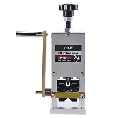 CO-Z Manual Scrap Wire Stripping Machine, Copper Wire Peeler Machine, Scrap Cable Stripper for Wire Recycling, Compact & Portable Aluminum Alloy Construction, 0.06-0.98 inches