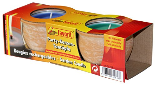 Favorit Party-Kerzen im Miniontopf 2er Pack