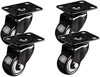 TCWDX 4 × Meubelwielen, Heavy Duty Swivel Caster Office Stoel Vervanging Castor, 1.6/2/2.4/3 Inch Silent Brake Casters Wie...