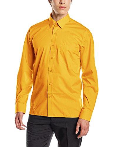 Camiseta de manga larga amarillo mostaza. HOmbre