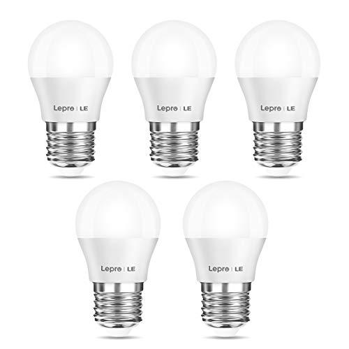 Lepro E27 LED Lampe, 3W 250 Lumen LED Birne, 2700 Kelvin Warmweiß entspricht 25W Glühlampe, G45 180°Strahlwinkel Leuchtmittel, 5er Pack