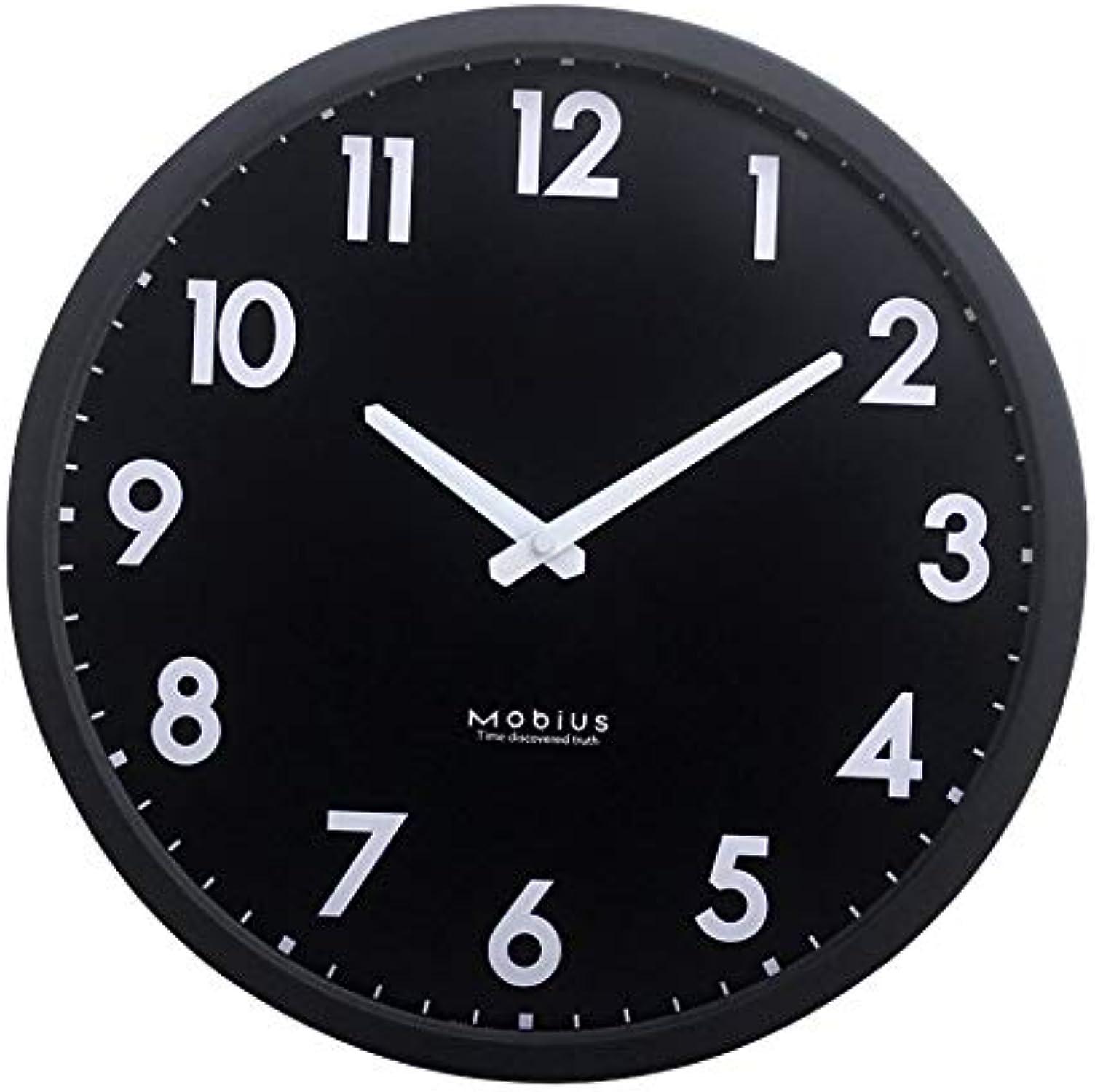 precios ultra bajos ZBBSHOP ZBBSHOP ZBBSHOP Sencillo y Creativo Reloj de Parojo para Sala de Estar Personalidad silenciosa Reloj de Parojo de Reloj de Metal Negro 30 cm  gran descuento