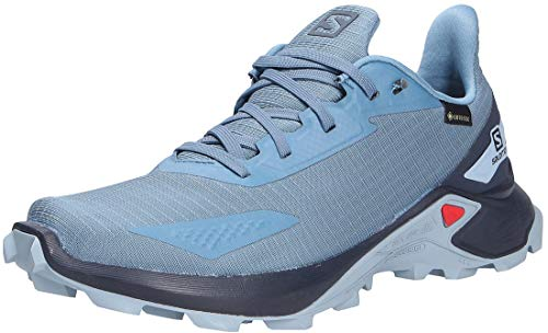 Salomon Alphacross Blast GTX, Zapatillas De Trail Running Impermeables Mujer, Azul (Copen Blue/Navy Blazer/Ashley Blue), 36 EU