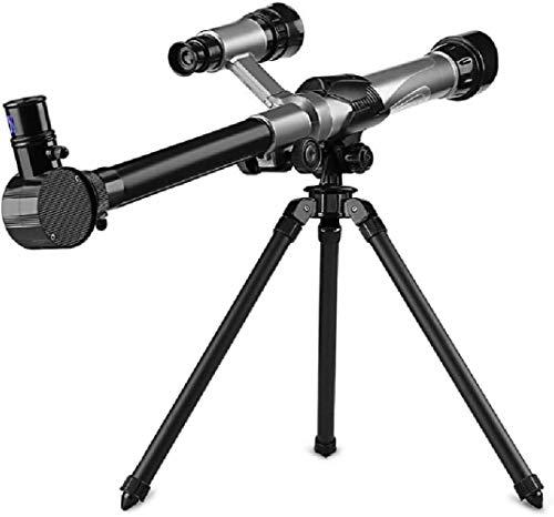 DINGZXC Telescopio,Ajuste Eléctrico de la Distancia Focal Del Telescopio,Adecuado para Niños Y Estudiantes Telescopio Conveniente/Gray/Negro / 50×8×19.5cm